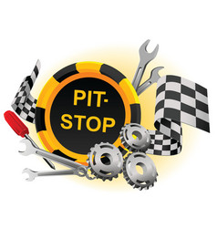 pit stop vector image