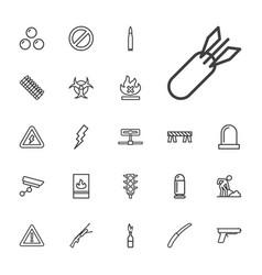 22 danger icons vector