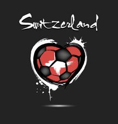 4529 - denmark heart soccer vector image