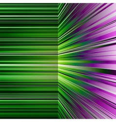 Abstract warped green and purple stripes vector image