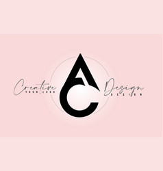 Ac letter design icon logo with letters one vector