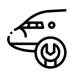 airplane wrench icon outline vector image