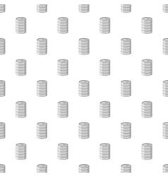 Aluminum barrel for beer pattern cartoon style vector