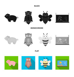 an unrealistic black flat monochrome animal vector image