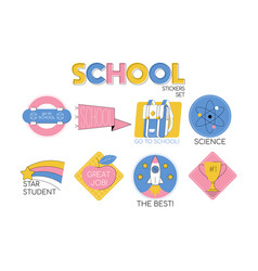 back to school set collection vector image