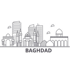 baghdad architecture line skyline vector image
