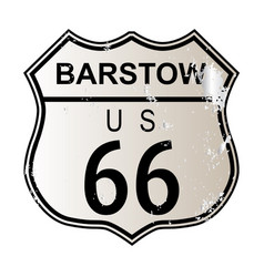 Barstow route 66 vector