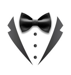 Black details man wedding suit tuxedo vector