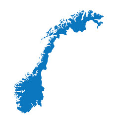 blank blue similar norway map isolated on white ba vector image