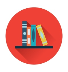 Bookshelf icon vector