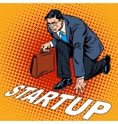 Business concept startup businessman vector image