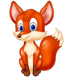 Cartoon animal fox vector