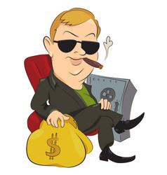 cartoon image of businessman vector image