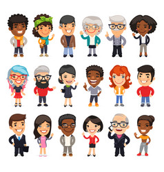 Cartoon people collection vector