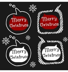Christmas set icons Doodle vector image