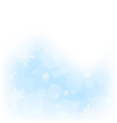 Christmas winter background with snowflakes vector image
