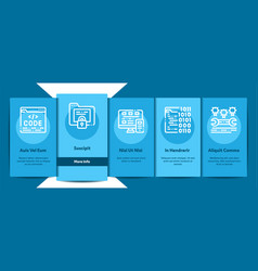 coding system onboarding vector image