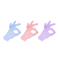 computer hand with gesture of okay vector image