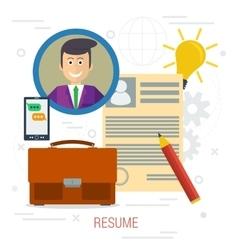 concept CV resume vector image