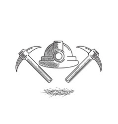 construction icon hand drawn vector image
