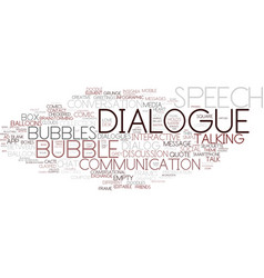 Dialogue word cloud concept vector