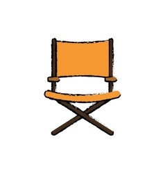 Directors chair isolated vector