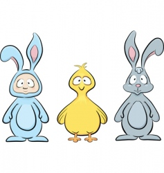 Easter characters set vector image