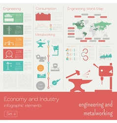 Economy and industry Engineering and metalworking vector