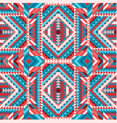 Ethnic tribal colorful seamless pattern aztec vector