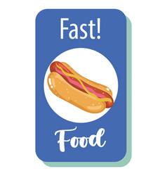 fast food hot dog menu restaurant unhealthy vector image