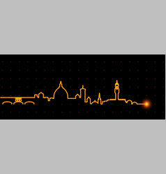 Florence light streak skyline vector