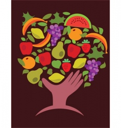 food and vegetables vector image