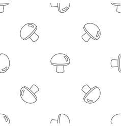 fresh mushroom icon outline style vector image