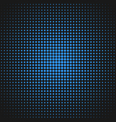 halftone circle pattern background design - vector image