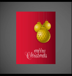 hanging snowball merry christmas background vector image