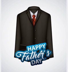 Happy fathers day vector