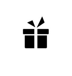 icon gift lorem ipsum flat design jpg vector image