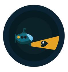 Image bathyscaphe - submarine or color vector