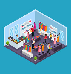 isometric holiday shopping template vector image