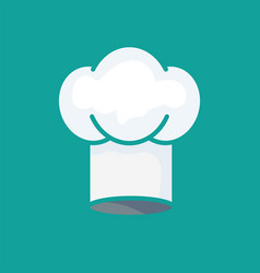 kitchenware chefs hat flat icon vector image