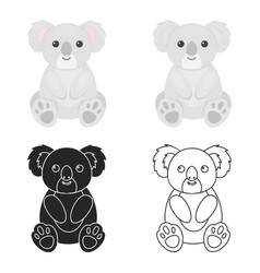 koala icon cartoon singe animal icon from the big vector image