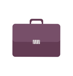 leather briefcase portfolio icon isolated vector image
