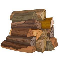 Logs fire wood vector