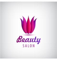 lotus logo spa and salon icon vector image
