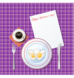 love breakfast idea vector image