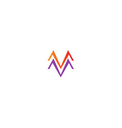 m line colored company logo vector image