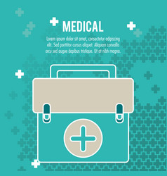 Medical health care box first aid vector