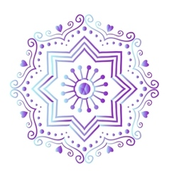Mehendy mandala flower vector
