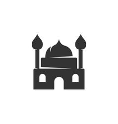 Mosque icon isolated on a white background vector image