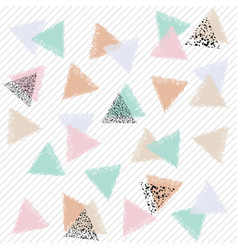 Pastel ornament with triangles vector